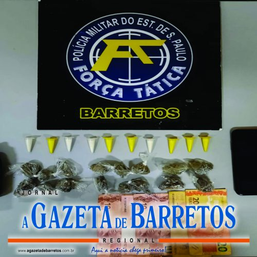 BARRETOS: Desempregado é preso com drogas, dinheiro e um rádio transmissor