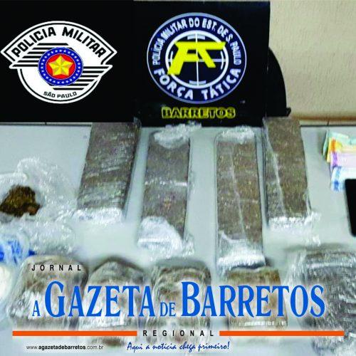 BEBEDOURO: Polícia Militar apreende mais de seis quilos de drogas e prende dois homens por tráfico