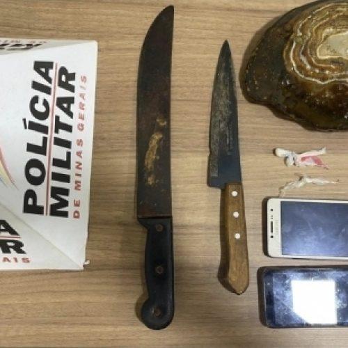 MG: Mulher tenta matar policial militar com faca em Planura