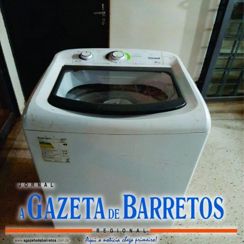 BARRETOS: Desempregado é preso após furtar máquina de lavar em residência