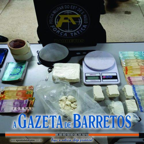 BARRETOS: Força Tática prende três homens e apreende mais de um quilo de cocaína no bairro Mais Parque