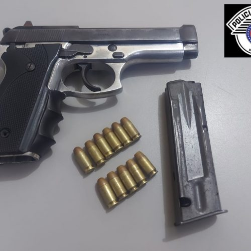 BARRETOS: Polícia Militar prende suspeito de crimes e apreende arma no bairro Henriqueta